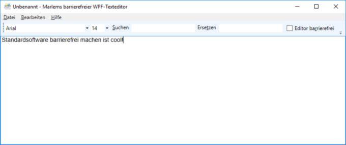 So sieht Marlems barrierefreier WPF-Textedior aus