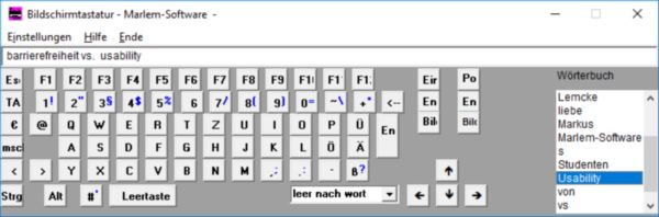 Bildschirmtastatur von Marlem-Software