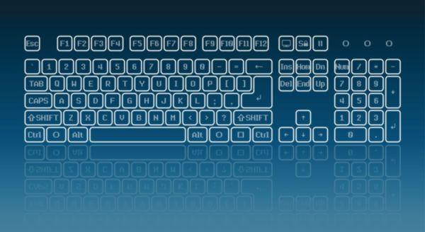 Eine Bildschirmtastatur ermöglicht das Schreiben per Mausklick