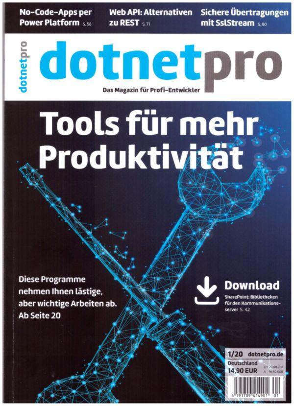 Titelseite der IT-Fachzeitschrift dotnetpro