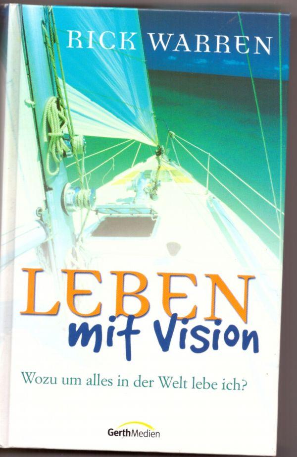 """Buch mit dem Titel """"Leben mit Vision"""""""