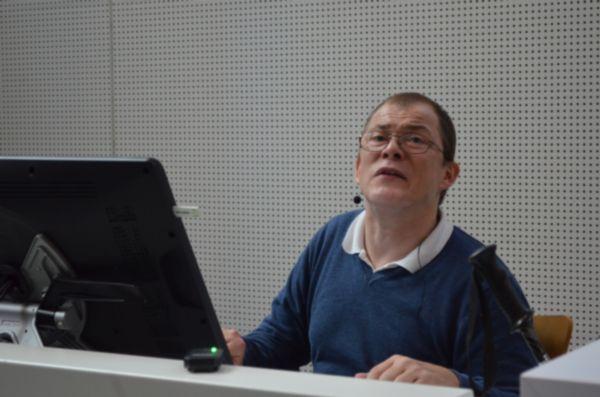 Markus Lemcke als Dozent in der Hochschule der Medien in Stuttgart