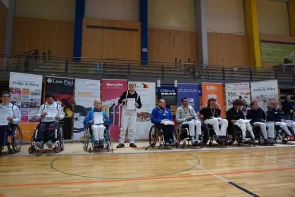 Siegerehrung Kategorie B/C Deutsche Meisterschaft im Rollstuhlfechten