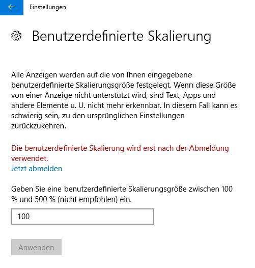 Windows 10 - Systemschrift anpassen für Menschen mit Sehbehinderung