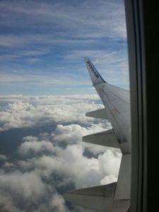 Die Wolken aus dem Flugzeug heraus fotografiert. Ich fühlte mich 3 Tage wie auf Wolke Nummer 7