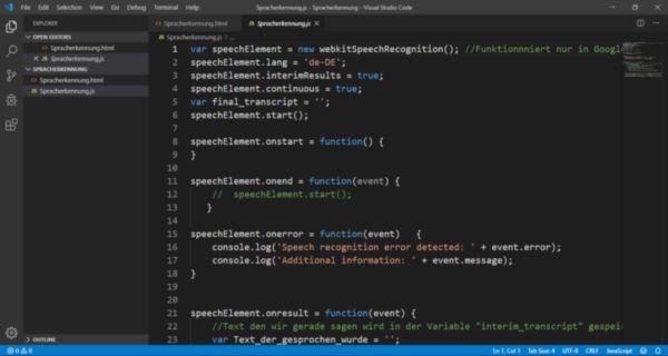Barrierefreie Softwareentwicklung für die Cloud mit der Entwicklungsumgebung Visual Studio Code