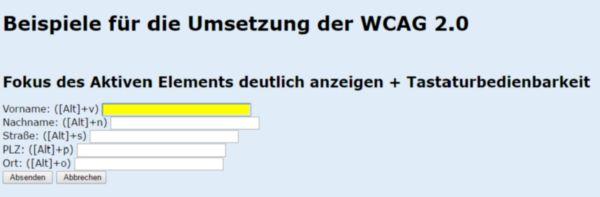 Barrierefreies Webdesign mit der WCAG 2.0