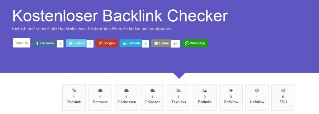 Bild vom Backlink Checker von OnpageDoc