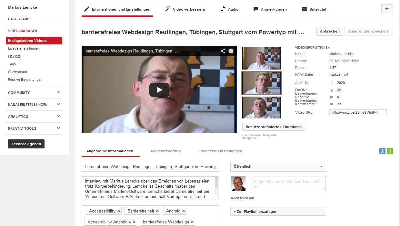 Suchmaschinenoptimierung für Youtube-Videos